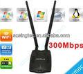 300m de alta ganancia adaptador usb wifi con doble 5 dbi antenas 300m tarjeta de redinalámbrica con ralink 3072 chipset