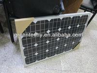 Small 50 watts monocrystalline solar panel