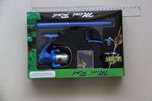 Pen Fishing Pole pocket suit telescopic fishing rod and reel
