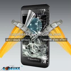 anti-shock screen protector for blackberry z10 screen protector