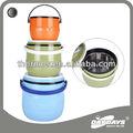 Cuerpo plástico y revestimiento de acero conjunto de calentador de comida/caja de bento/frasco de comida