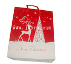 paper christmas gift bag with handle