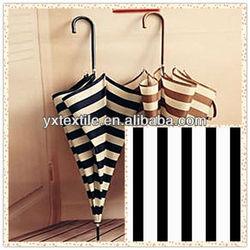 190T polyester black and white stripe printing taffeta umbrella material