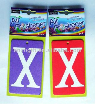 X Paper Card Car Air Freshener, Perfume Card for Car