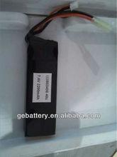 7.4v rc high rate series battery 2200mah