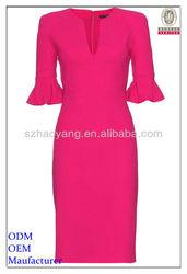 red special neck designer red dresses
