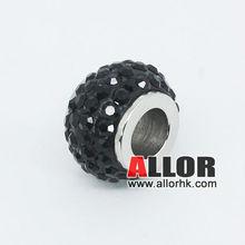 Multi-color Stainless Steel Shamballa Beads For Bracelet