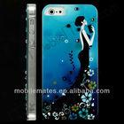 Elegant Lady Crystal Diamond Bling Hard Case for iPhone 5