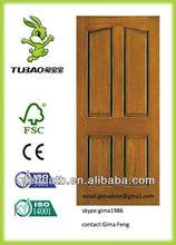 interior hotel solid meranti/oak/maple/teak veneer design wooden panel painting flat door