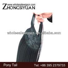 Quality fake ponytails/fake hair ponytails/wrap around ponytail