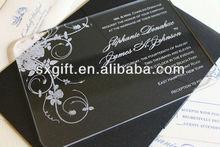 plexiglass invitation card