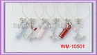 Sport!2013 New Products Metal Golf Tools Wine Charms Golf Ball Mark Glass Wine Charms Fashion Jewelry Wine Accessory