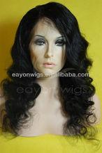 Beautiful and elegant human hair full lace wig regular curly wig