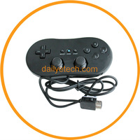 Classic Gaming Controller for Nintendo Wii Remote Black from dailyetech