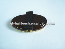 wooden and boar mixed nylon bristle oval brush
