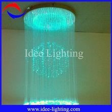 LED crystal pendant fiber optic light