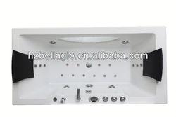 2014 Luxury cheap Whirlpool bathtub LED massage bathtub dog bath tub
