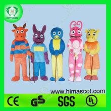 HI Very Hot Funny Five Backyardigan mascot