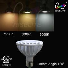 12 Watt - LED - PAR30 - Short Neck - 2700K Warm White - Narrow Flood - 3,268 Candlepower - 75 Watt Halogen Equal - riselite