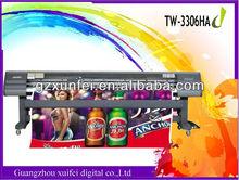Economic !! Price of Plotter Printing Machine TW-3306HA with 6pcs SPT 510/35pl head printing flex banner