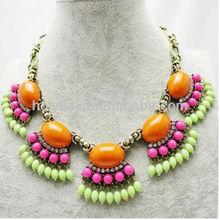 US fashion Fan Fringe necklace, 2013 Summer feel Hot wholesale jewelry necklace, Bib statement necklace