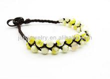 yellow agate friendship bracelet/friendship bracelets beaded/braided friendship bracelets