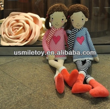 most popular couple doll with long legs plush toy