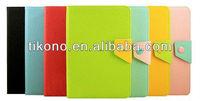 Fold contrast color pu leather case for ipad mini