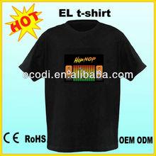supply popular selling el ladies t-shirt,sound activated equalizer t-shirt, sound activated t-shirt