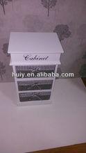 Wicker basket drawer cabinet, cabinet with wicker basket drawer, good storage trunk for kitchen