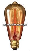 Edison Bulb Antique Vintage Rustika DELUXE ST64 Carbon Filament Bulb-Golden