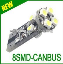 Canbus Car led lamp/W5W/194/T10 8 SMD 3528 light(8LED) Car Instrument lights