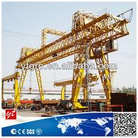 Trussed structure dual girders gantry crane for repair roads