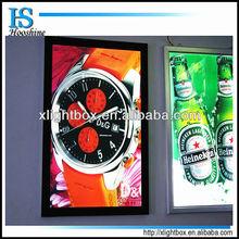advertising display light box sign/slim aluminium profile billboard