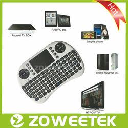 Mini Keyboard Wireless 2.4GHz with Trackball