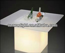 IP68 Plastic color changable illuminated led cube chair and table! flower show case/ beer ice bucket 2013 new