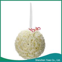 Ivory White Flower Ball Wedding Decoration 9.84 inch
