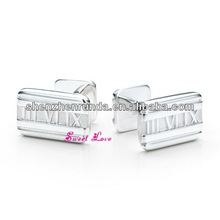 2013 alphabet letter cufflink for mens shirts round clip mens accessories new china novelty stainless steel jewelry