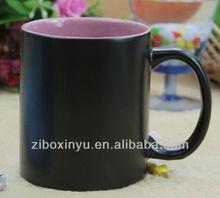 11oz Matt Finished Black color blank Magic mugs FOR ZIBO XINYU