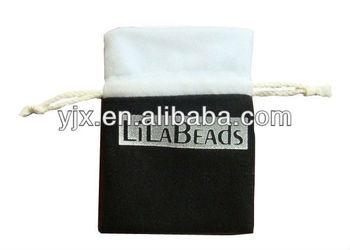 Cotton Drawstring Velvet Necklace Bag