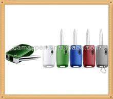novelty car key light pen for promotion