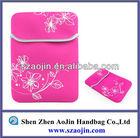 Light waterproof neoprene flower design laptop bag notebook sleeve