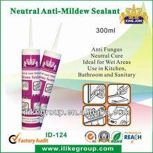 Bathroom mildew resistant silicone sealant(SGS,TUV certificate)