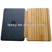 FLEXIBLE AUTHENTIC BAMBOO WOOD CASE SMART COVER SKIN FOR APPLE IPAD 1/2/3/4 WITH PC BACK HARD COVER