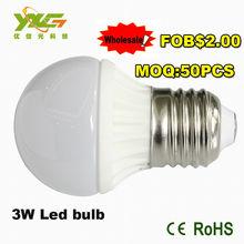 80 led light e27 110v 3w ceramic 300lm cool white warm white