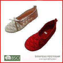 Satin ballet shoes for girl
