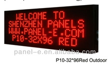 2013 Factory price P10 3296Red color outdoor LED moving sign,4lines led banner signs,led display (Direct Manufacturer)