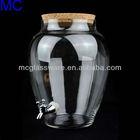 handmade glass drink dispenser glass