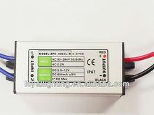 Constant Current LED Power Supply 12V 6W 7W 8W 9W 600mA Waterproof IP67 CE ROHS 600mA for led bulb ,led strip light,led tube