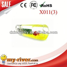 Customized Gift new 2.4g no battery wireless liquid mouse
